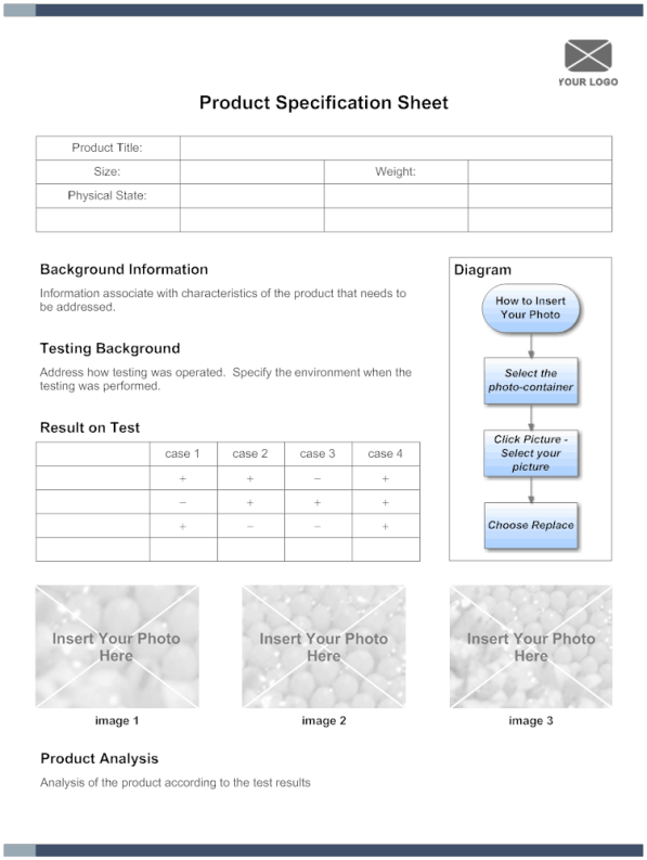 specification sheet template 1
