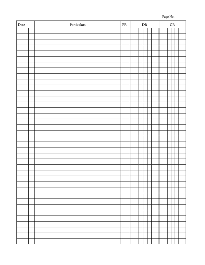 double entry journal template for word - 4 free general journal templates word excel pdf formats