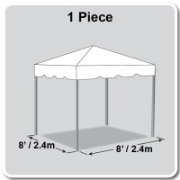 8' x 8' Classic Series Frame Tent