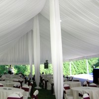 Center Pole Drapes for Wedding Tents 21 ft