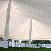 Center Pole Drapes for Wedding Tents 18 ft