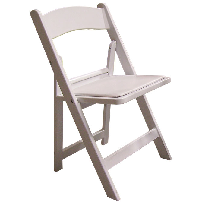 White Oxford Resin Folding Chair Pad
