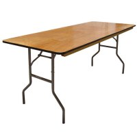 6' Wood Banquet Table for Rental Halls and Events
