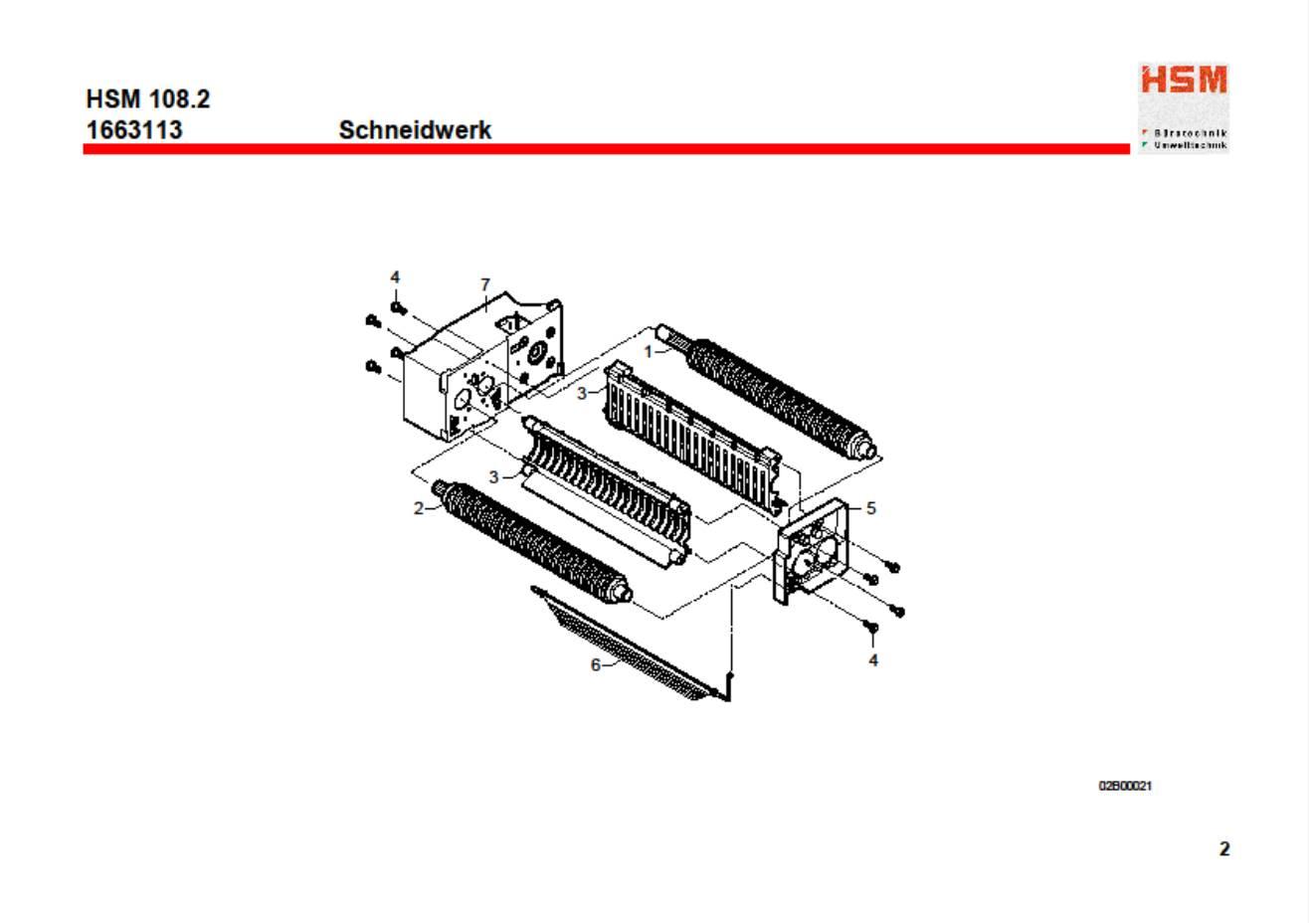 HSM Classic 108 SC Paper Shredder Oem Stripper Element New