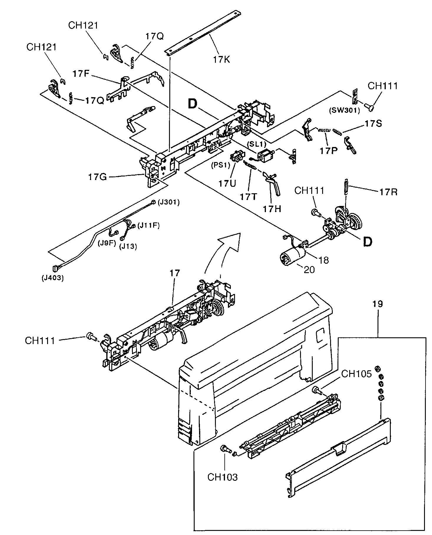 HP LaserJet 4V 4MV RG5-1557 Complete 115V Oem Fuser Fixing