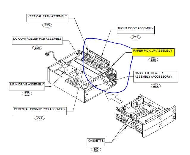 Canon IR 2200 3300 3320 FG6-5644 Cassette Paper Pickup