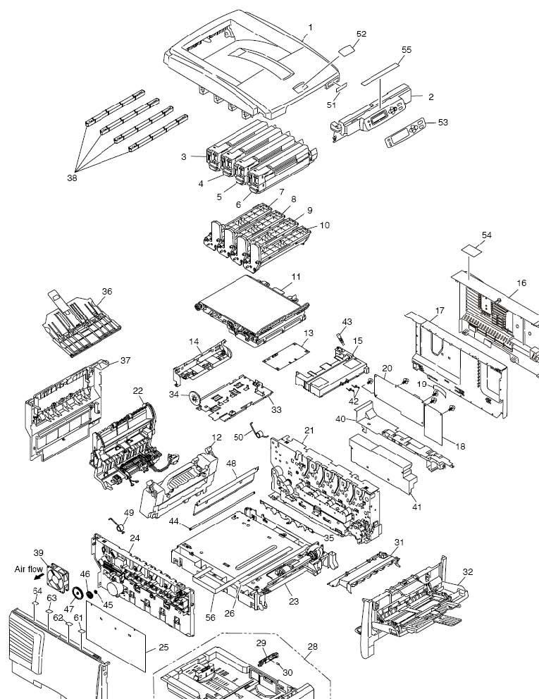 Okidata C5800 43131001 PRINT Engine Controller PWB Assy