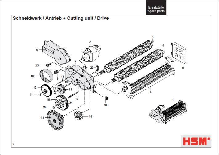 HSM Classic 102.2 102 cc 102 sc Paper Shredder Oem Rubber