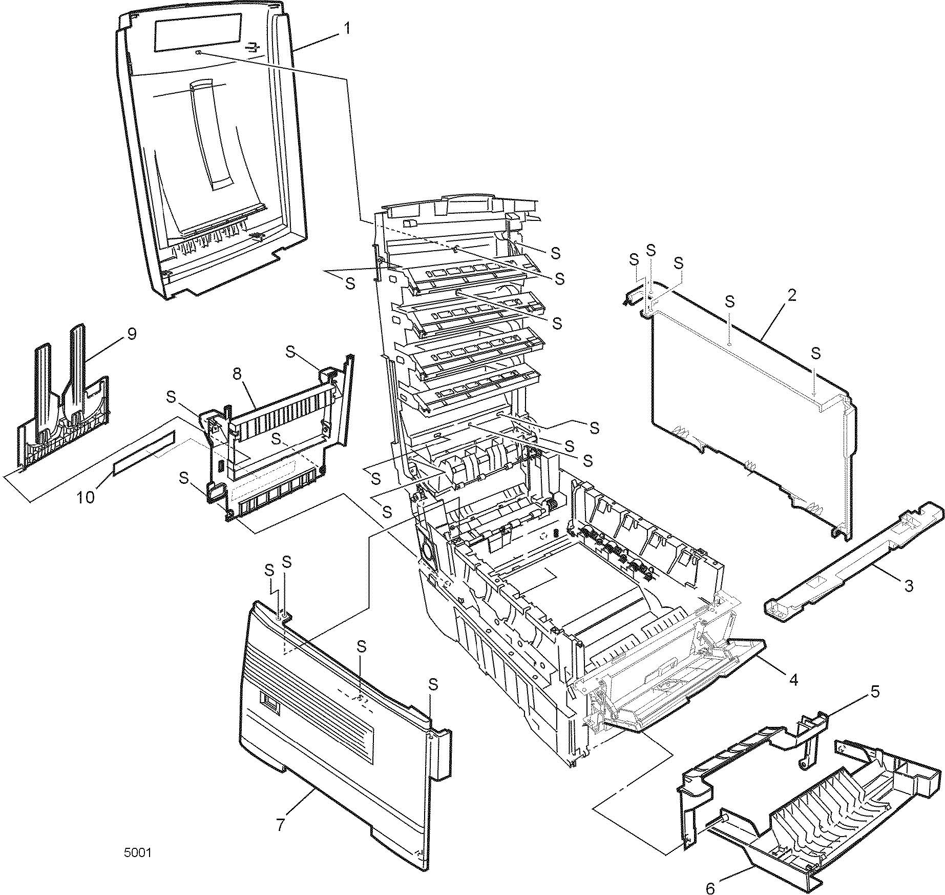Xerox Tektronix 1235 802K2403 MPT Bypass Feeder Assy