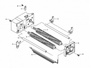 HSM Classic 104.3 108.2 Paper Shredder Oem Side Bearing