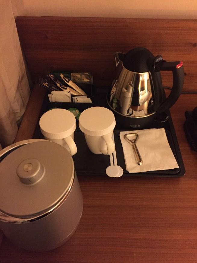 Tea and coffee at Hilton Airport Frankfurt Garden Inn