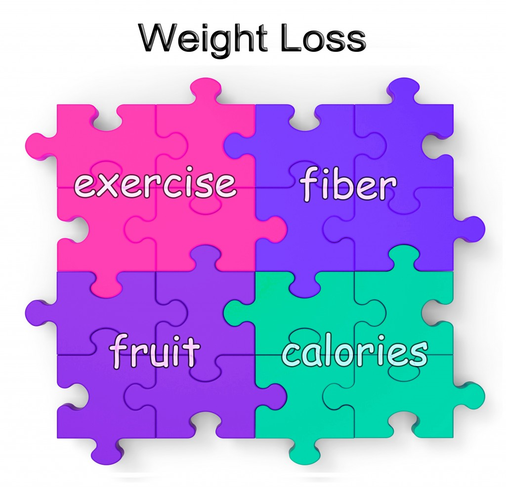 Weight Loss Puzzle Shows Exercise, Fiber, Fruit And Calories