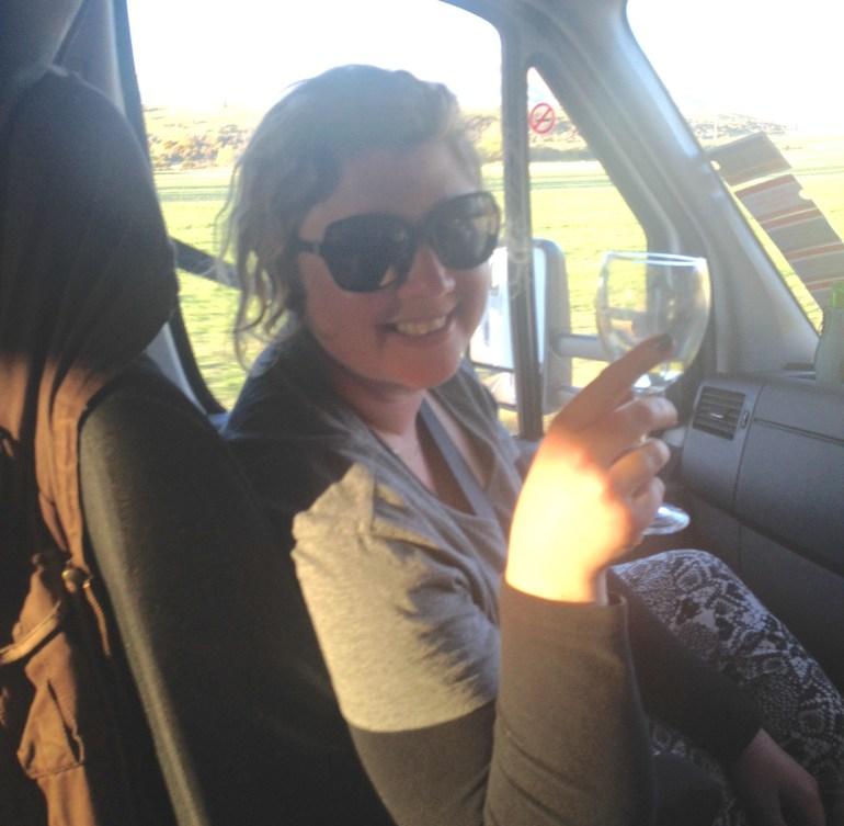 Me, neglecting my co-pilot duties