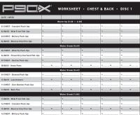 Search Results for P90x Worksheets  Calendar 2015