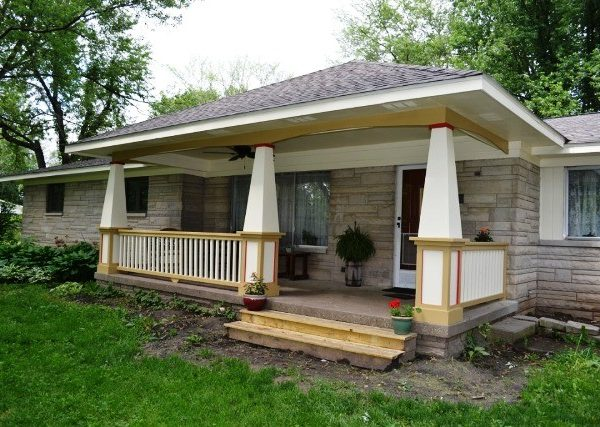 Greenwood front porch addition  Gettum Associates Inc
