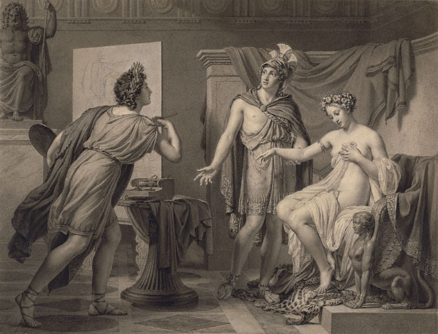 """Alexander Ceding Campaspe to Apelles"" by Jéröme-Martin Langlois (1819)"