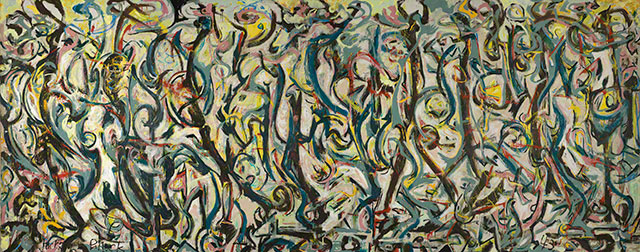 Image result for jackson pollock mural