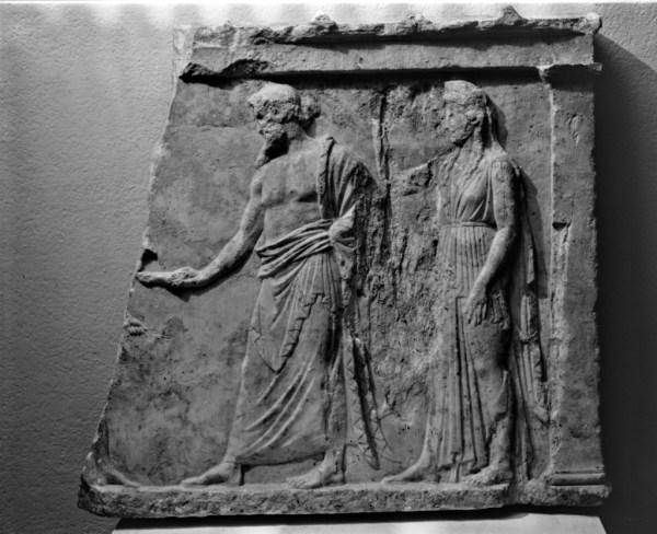 Votive Relief Zeus And Hera Getty Museum