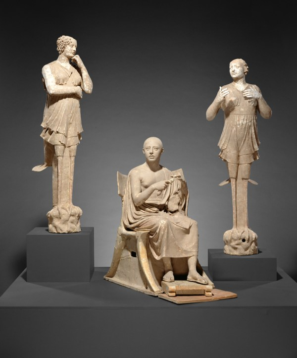 Sculptural Group Of Seated Poet And Sirens 2 With
