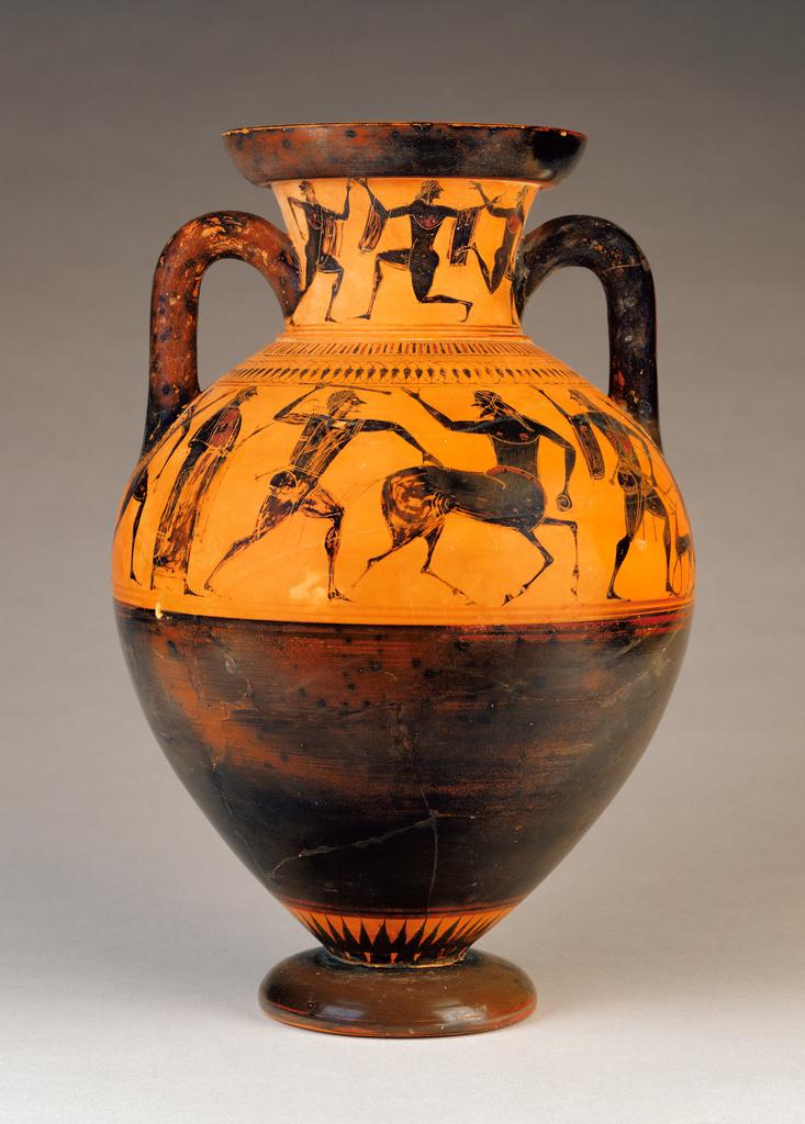 Attic BlackFigure Neck Amphora Getty Museum