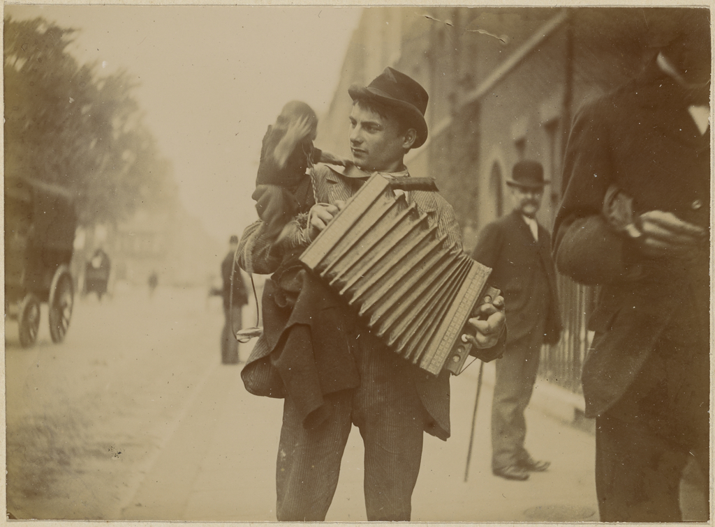 Accordion Player With Monkey Getty Museum