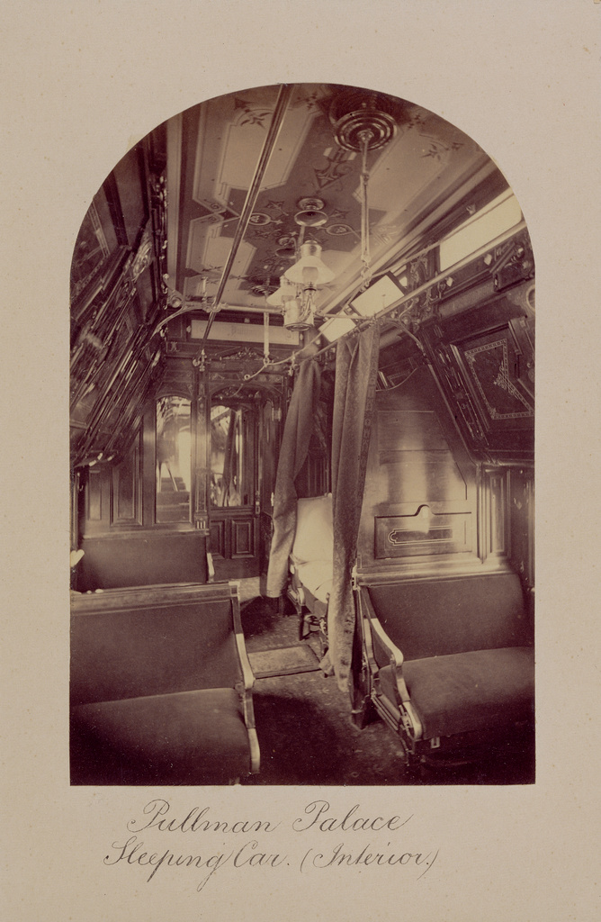 Pullman Palace Sleeping Car Interior Getty Museum