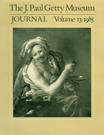 The J. Paul Getty Museum Journal: Volume 13/1985