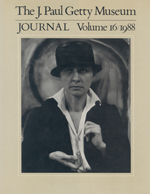 The J. Paul Getty Museum Journal: Volume 16/1988