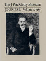The J. Paul Getty Museum Journal: Volume 17/1989