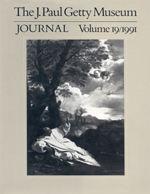 The J. Paul Getty Museum Journal: Volume 19/1991