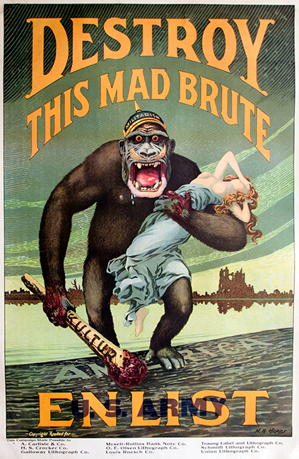 Destroy this Mad Brute—Enlist, Harry R. Hopps, ca. 1917