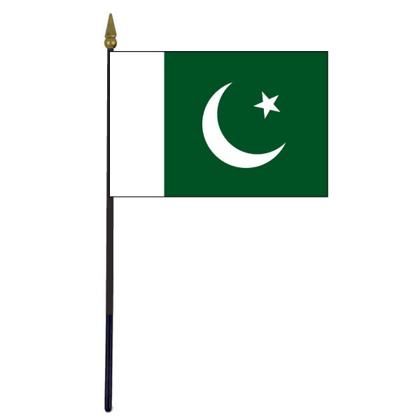 pakistan stick flag 4x6