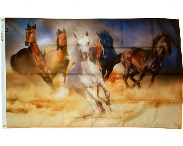 Running Horses Flag 3x5 Holiday Celebration Flags