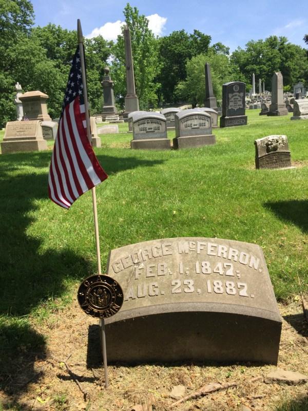 Civil War Gar Grave Marker