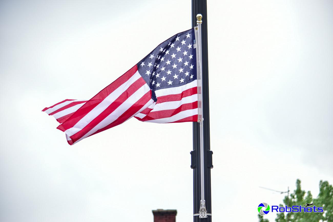 double light pole flag set 2x3