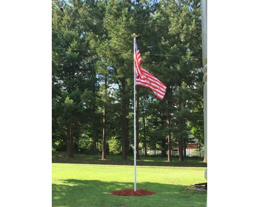 20 Telescoping Flagpole  InGround Residential Flagpoles  InGround Flagpoles  Flagpoles
