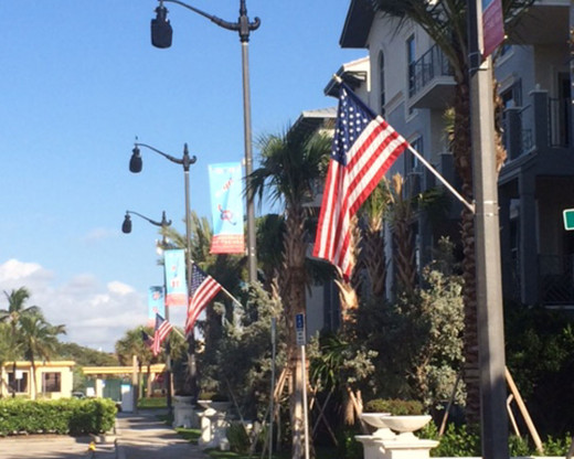 Light Pole Flags  Street Pole Flag Sets with American Flag Included