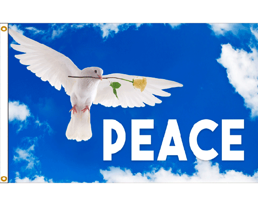 Peace Dove Flag  3x5  Holiday  Celebration Flags