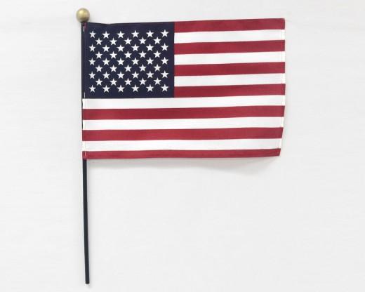 SafTBall  Cotton American Stick Flags