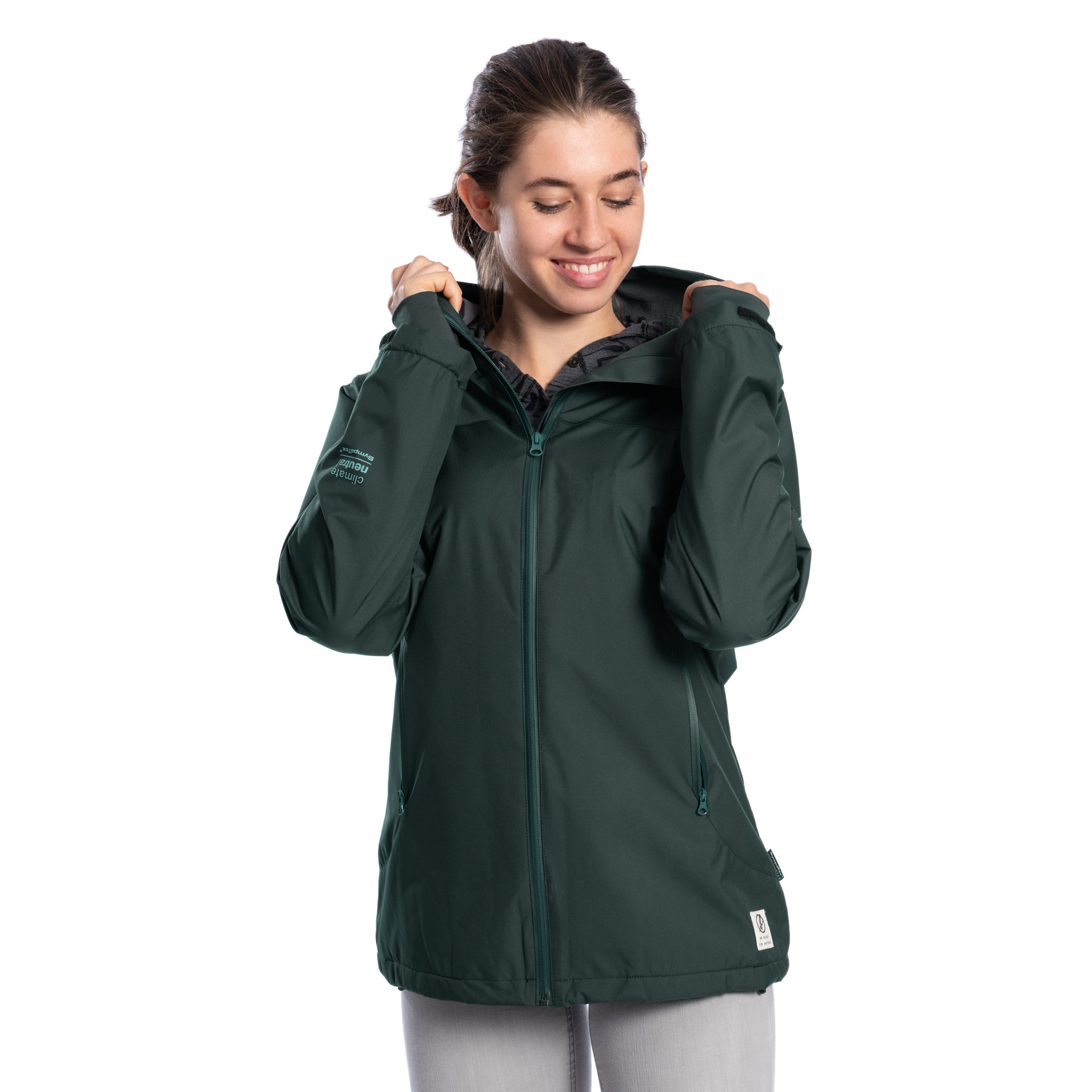 BLEED SYMPATEX® Thermal Jacke Damen Dunkelgrün –
