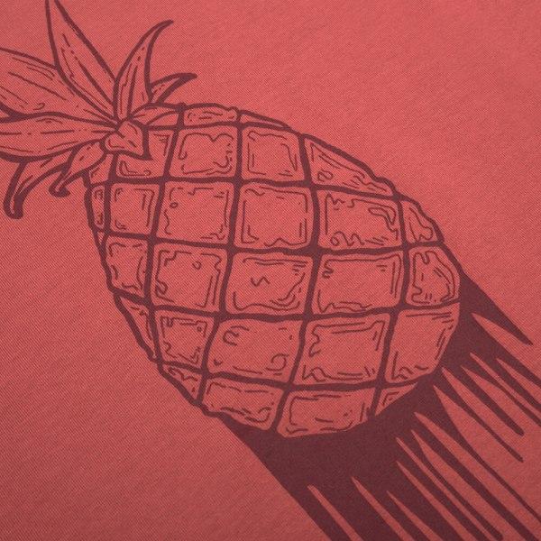 bleed-clothing-1646f-pineapple-t-shirt-damen-rot-detail-02