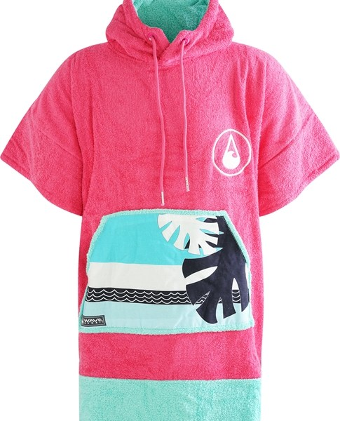 WAVE HAWAII Poncho Pink Wave 1 (1)