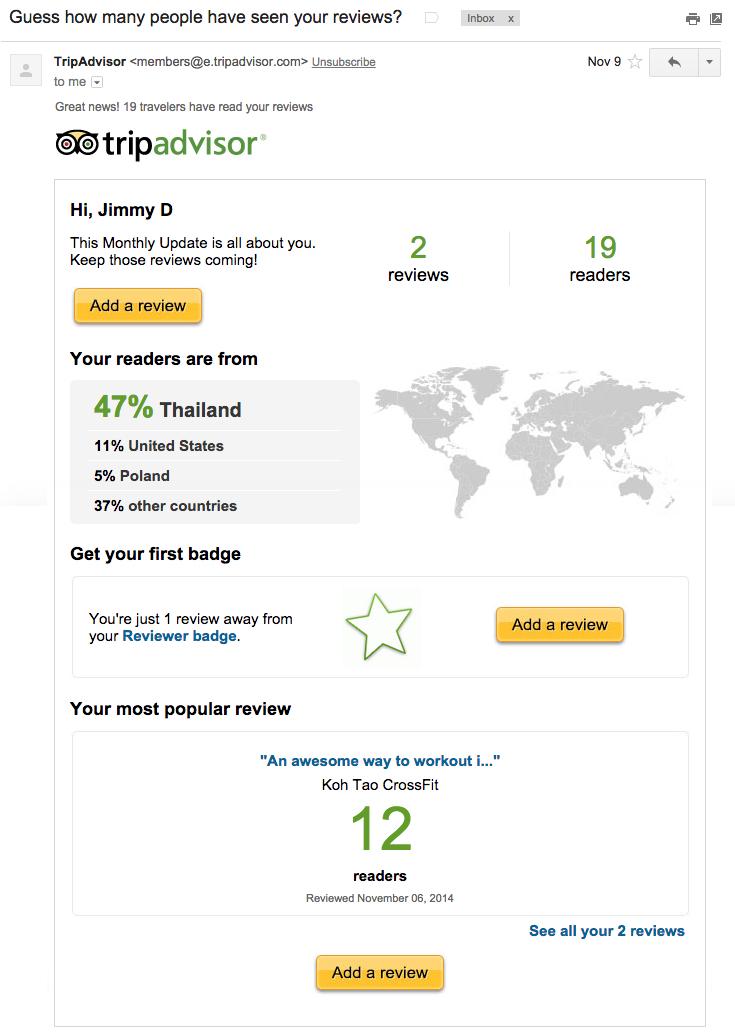 trip advisor email marketing