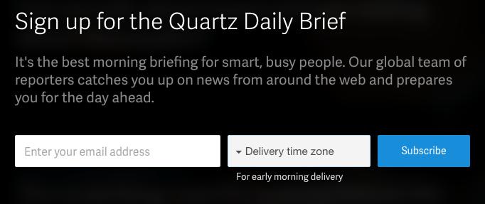 quartz email signup