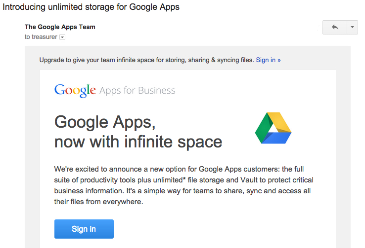 google-apps email best practices