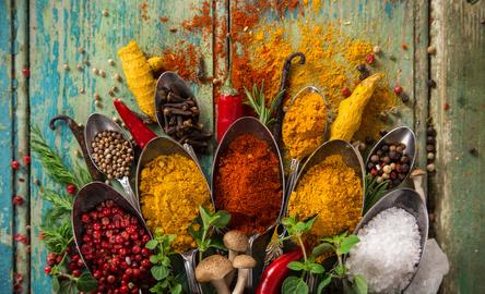 colorful spices for bursitis