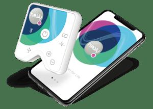Healy sensor and Pink Dot App on Smart Phone