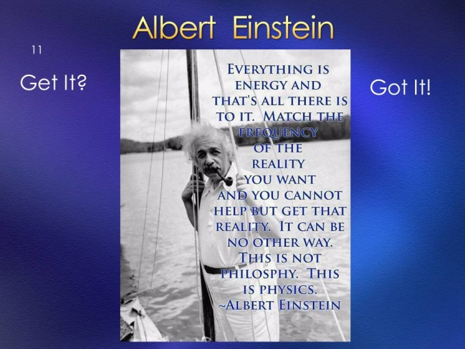 Einstein on Creating via Energy