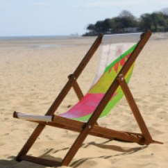 Sailcloth Beach Chairs Patio Table And Chair Set Cover Wightsails Recycled Making A Splash Deckchair 5