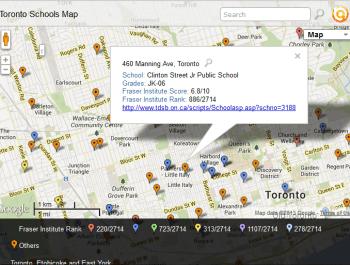 Toronto Schools Map